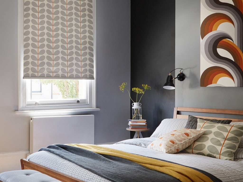 Orla Kiely Blinds roller blinds for bedrooms at Village Blinds Ballymena