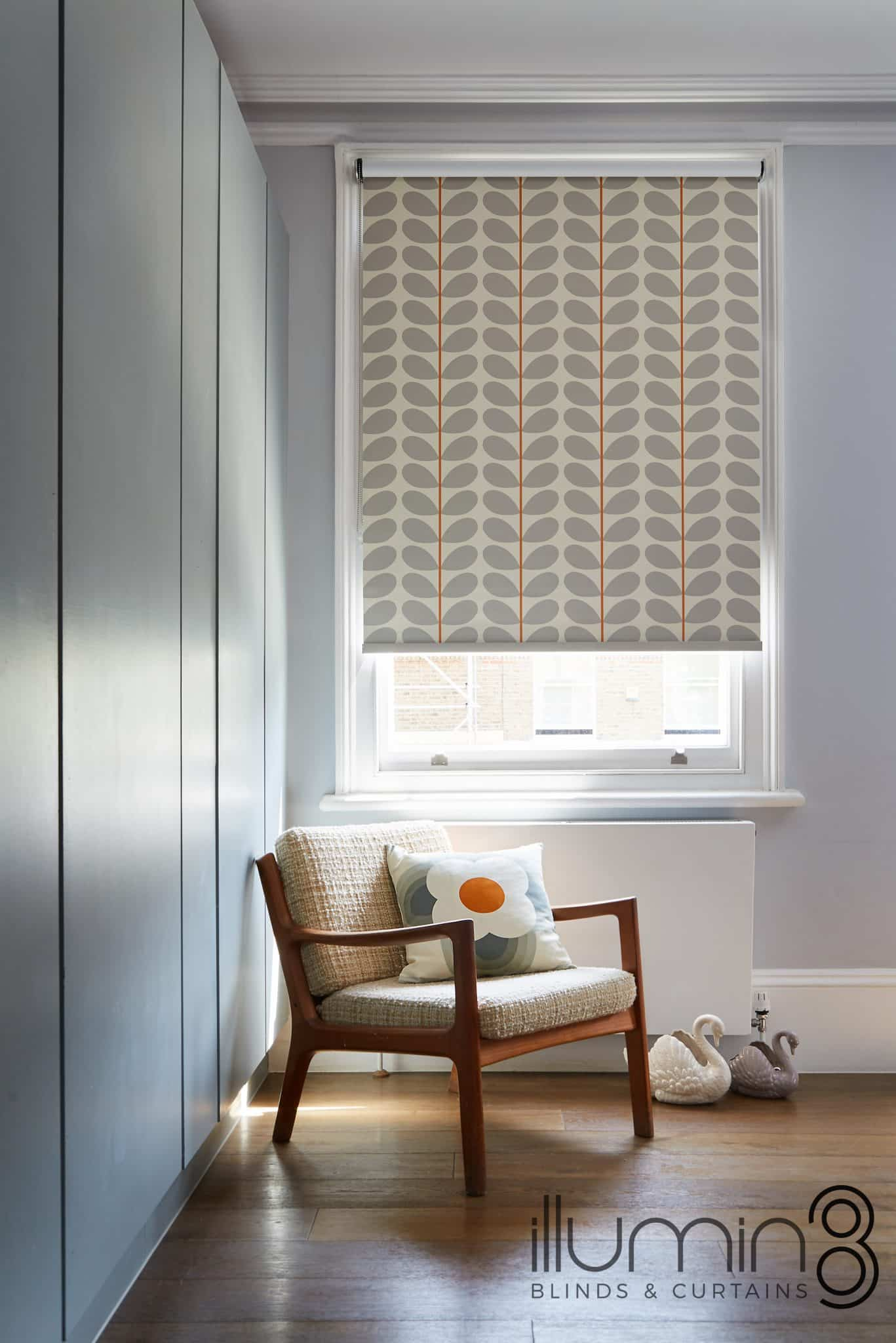 Orla Kiely Blinds, living room blinds at Village Blinds Ballymena