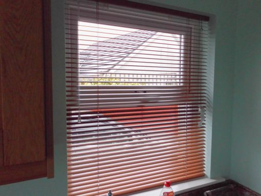 Wood Effect Teak Venetian Blinds